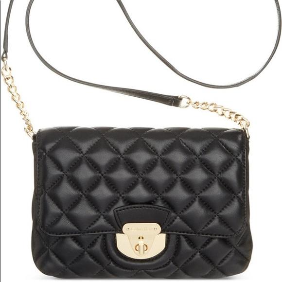 f19f6255791 Calvin Klein Handbags - Calvin Klein Quilted Lamb Leather Crossbody